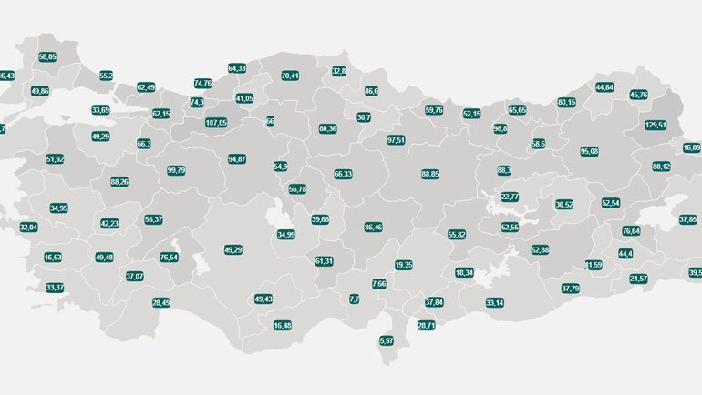5-11 Haziran Türkiye COVID-19 Haritası… Vaka Sayısı En Çok Düşen 5 İl