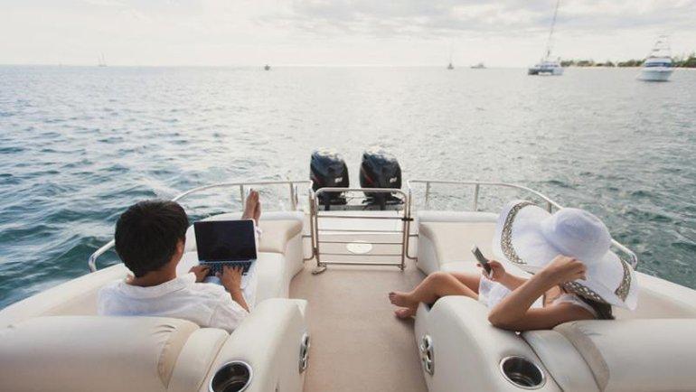 Tekne Tatilinde de Hızlı İnternet Hep Yanınızda