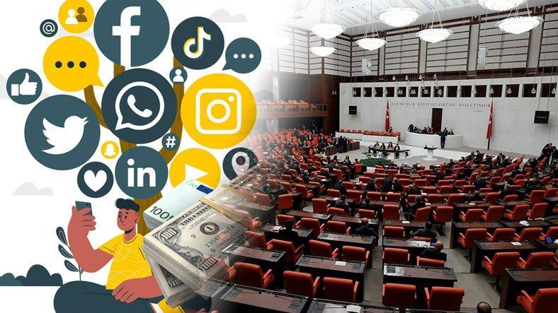 Sosyal Medya Gelirlerine Getirilecek %15'lik Vergi Meclis'te
